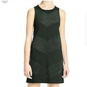 Kensie Black Chevron Faux Suede Dress Size M